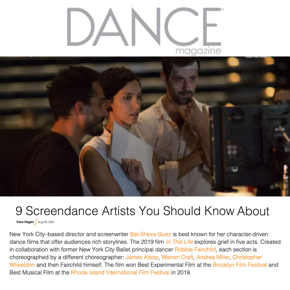 Dance Magazine - 9 Screendance Artists You Should Know About